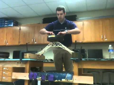 Toothpick Bridge Holds 145 Lbs Youtube