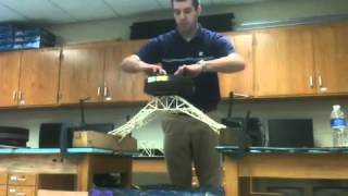Toothpick Bridge Holds 145 Lbs