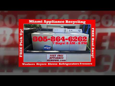 Free Washer And Dryer Pick Up In Miami Fl | 305-864-6262