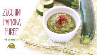Roasted Zucchini Baby Puree with Paprika +4M recipe