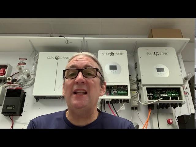 Installing the Sunsynk Hybrid Inverter