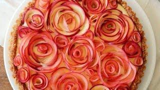 How To Make Apple Rose Tart | Make Apple Pie - Rose Pie Recipe | Valentine's Rose 玫瑰蘋果撻