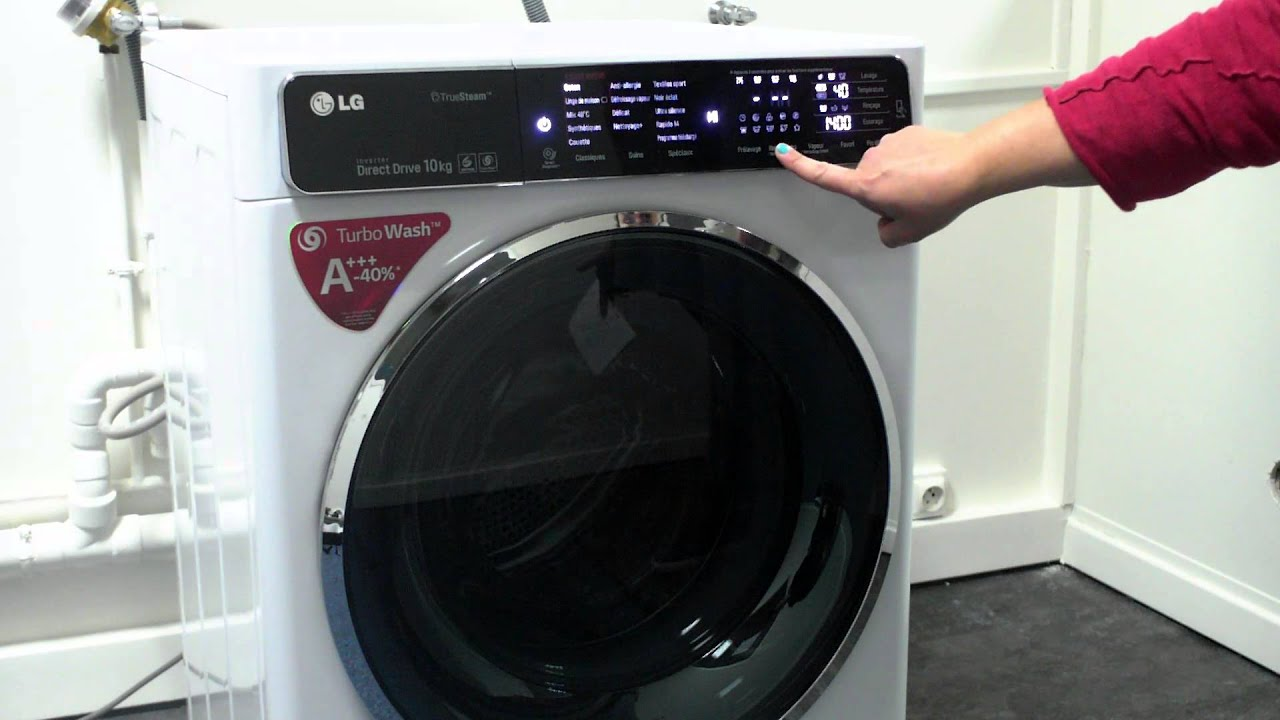 les num riques lave linge lg f14952whs avec connectivit nfc youtube. Black Bedroom Furniture Sets. Home Design Ideas