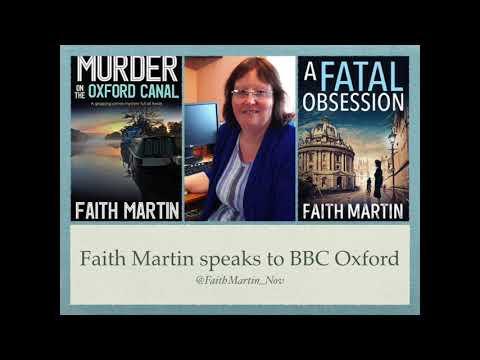 Bestselling crime author Faith Martin on BBC Oxford
