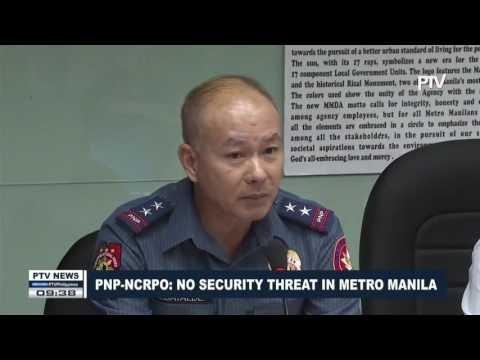 NCRPO: No security threat in Metro Manila