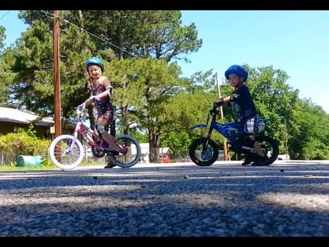 Teaching My Kids How To Ride Bicycle Without Training Wheels