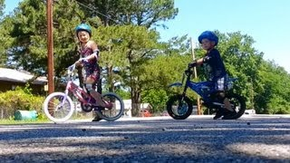 Teaching my kids how to ride a bicycle without training wheels