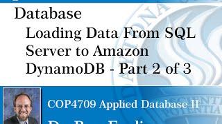 Database - DynamoDB Part 2 - Loading Data From SQL Server