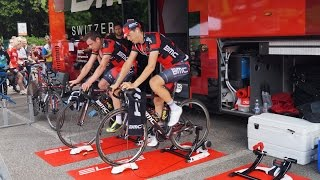 BMC Racing Team uses Elite Indoor Trainers for warming up