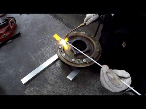 Braze Repair on a Broken Casting Part 1