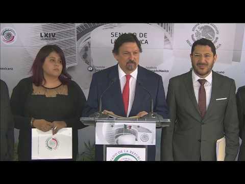 Conferencia De Prensa Del Senador Napoleón Gómez Urrutia, Del 11 De Febrero De 2020