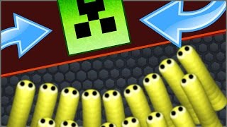 SLITHER.IO | NEW Slither.io Hack / Mod EXPLODING CREEPER MINECRAFT SKIN