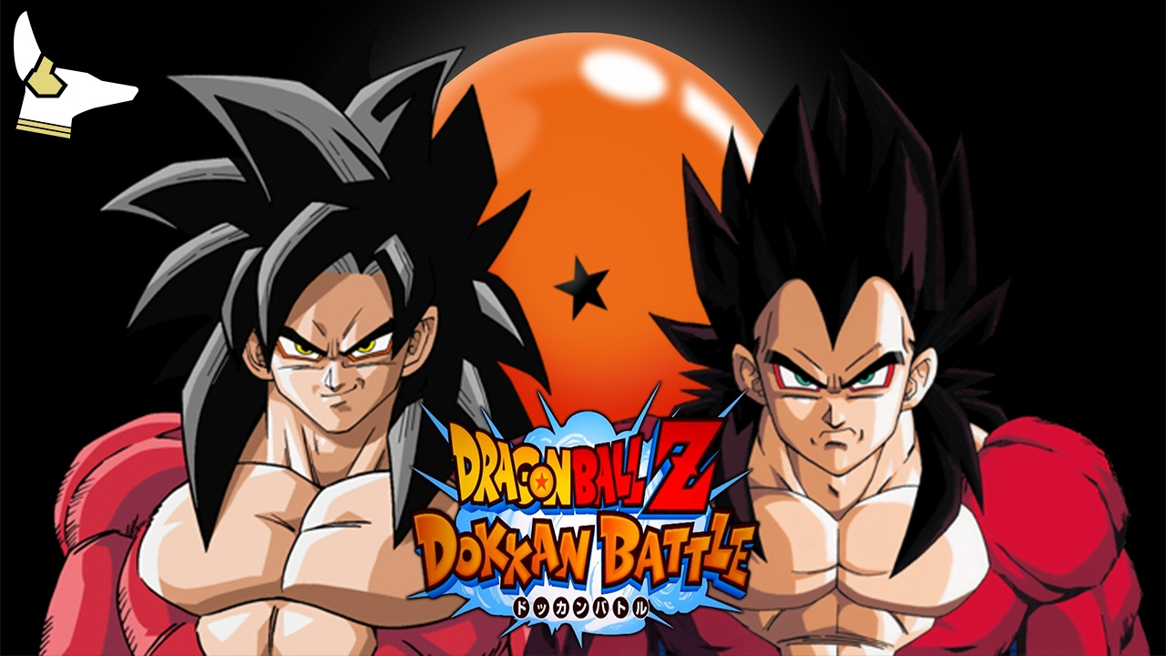 Dokkan Battle!!!! Super Saiyan 4 Goku and Vegeta Talk/Team Building!!! JP  Dokkan Battle!!!