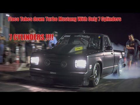 Download Youtube: Flaco On 7 Cylinders Takes Down Turbo Mustang!! (Dirty South No Prep) San Antonio Raceway (4k video)