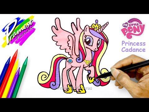 Putri Cadance Cara Menggambar Dan Mewarnai Kuda Poni Youtube