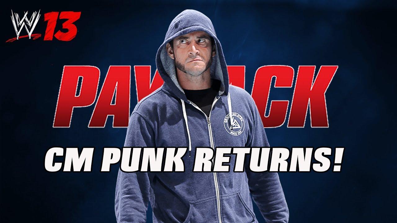 Wwe13 cm punk payback return entrance attire youtube voltagebd Choice Image