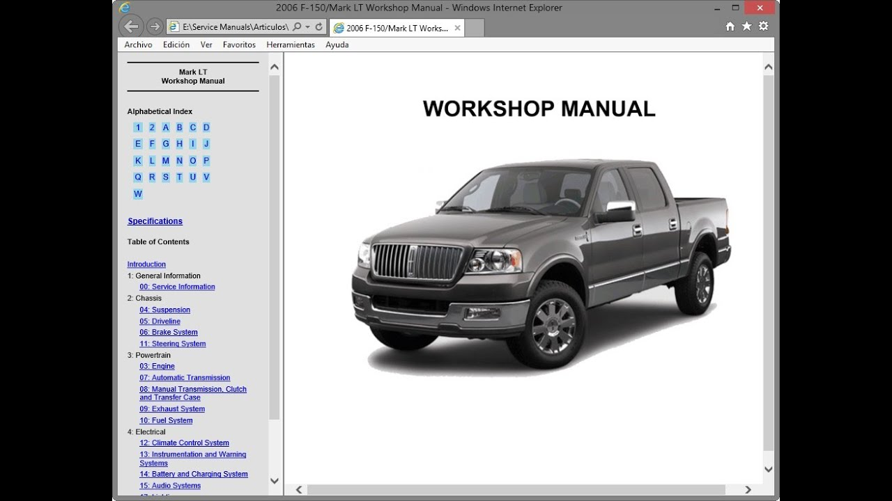 Lincoln Mark Lt  2006    Repair Manual