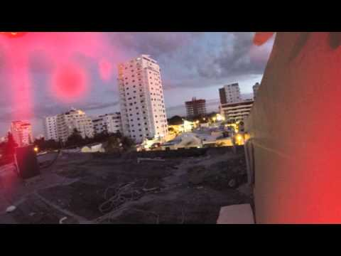 Dji Phantom - Crash of quadcopter in Dominican Republic - Lost in the air in downtown Santo Domingo