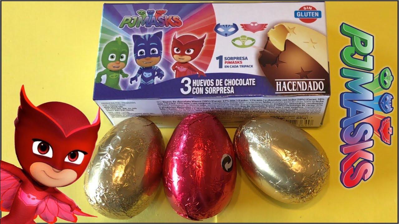 PJ Masks Surprise Eggs Opening Owlette Surprise Toys AbCdE