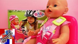 Jeu vélo Baby Born – Siège de vélo pour notre poupon Baby born – En route !