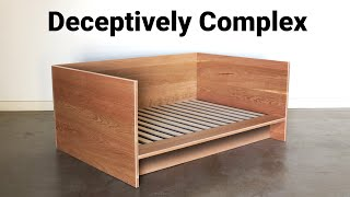 How to Build a (day) Będ out of all Hardwood, that can Pack Flat - Woodworking