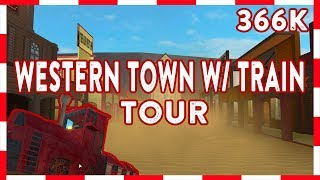 ROBLOX | Welcome To Bloxburg: 366k Western Town W/ TRAIN! (Tour)