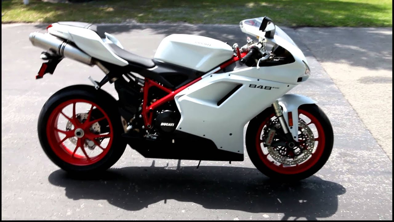 2012 Ducati 848evo white with red wheels (1).MOV - YouTube