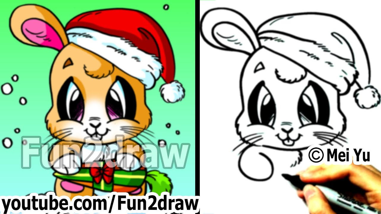 Gallery For gt Fun2draw Christmas Animals