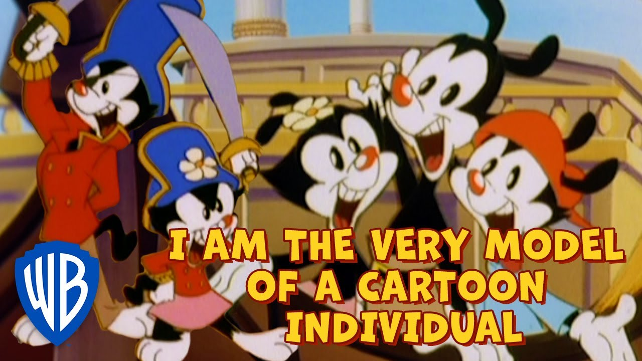Animaniacs SING-ALONG 🎤 | I Am the Very Model of a Cartoon Individual | WB Kids