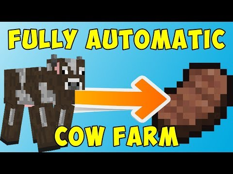 Fully Automatic COW FARM (COOKED STEAK) | Survival Minecraft #20