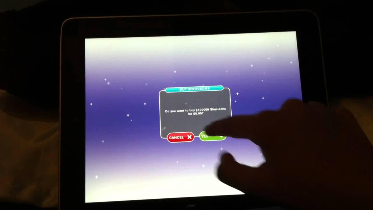 code de triche sims free play tablette
