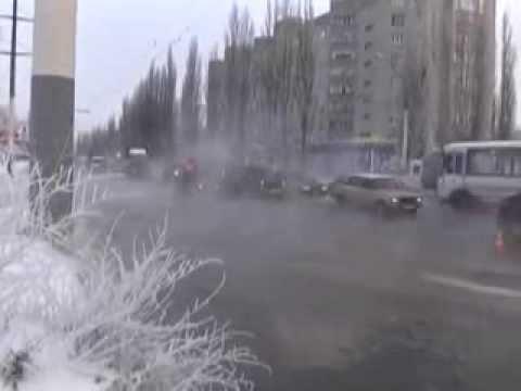 Прорыв трубы на Новосибирской