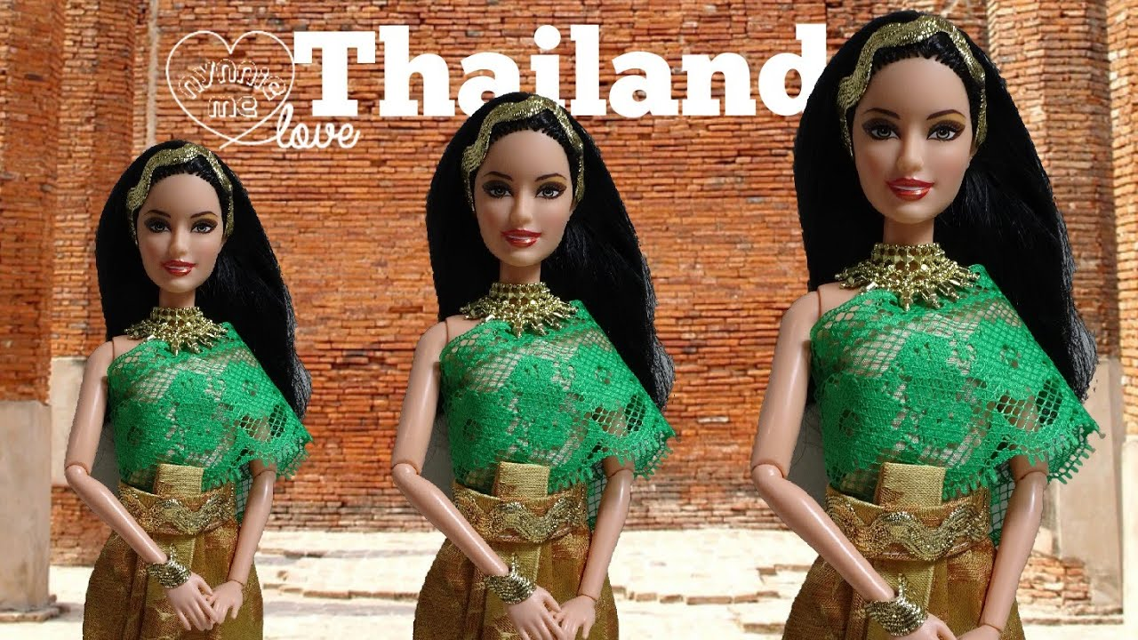 DIY Thai Traditional Dress for Barbie | How to and style dress for