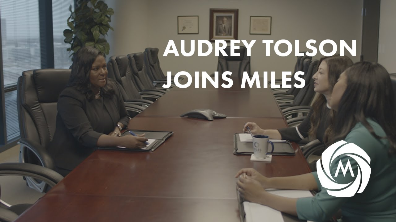 Audrey Tolson Joins Miles video
