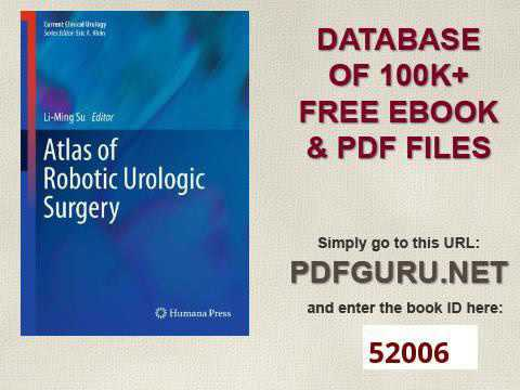 Atlas of Robotic Urologic Surgery Current Clinical Urology