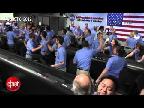 NASA celebrates Curiosity's touchdown on Mars - CNET News