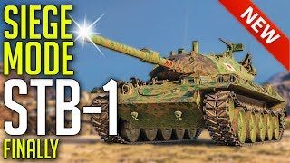 New STB-1 Finally Gets The Siege Mode! ► World of Tanks Update 1.5.1 Review