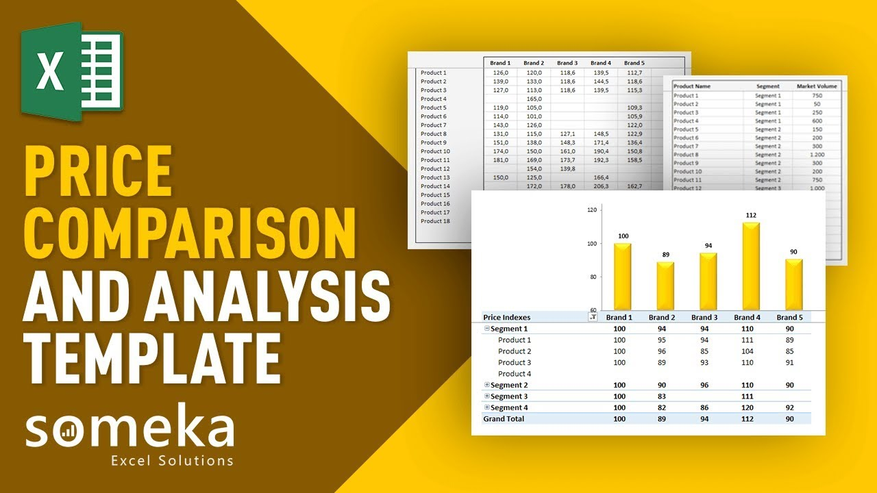 Price Comparison Tool: Excel Template for Competitive Analysis - YouTube