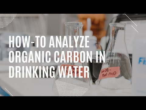How to analyze for Total Organic Carbon in drinking water