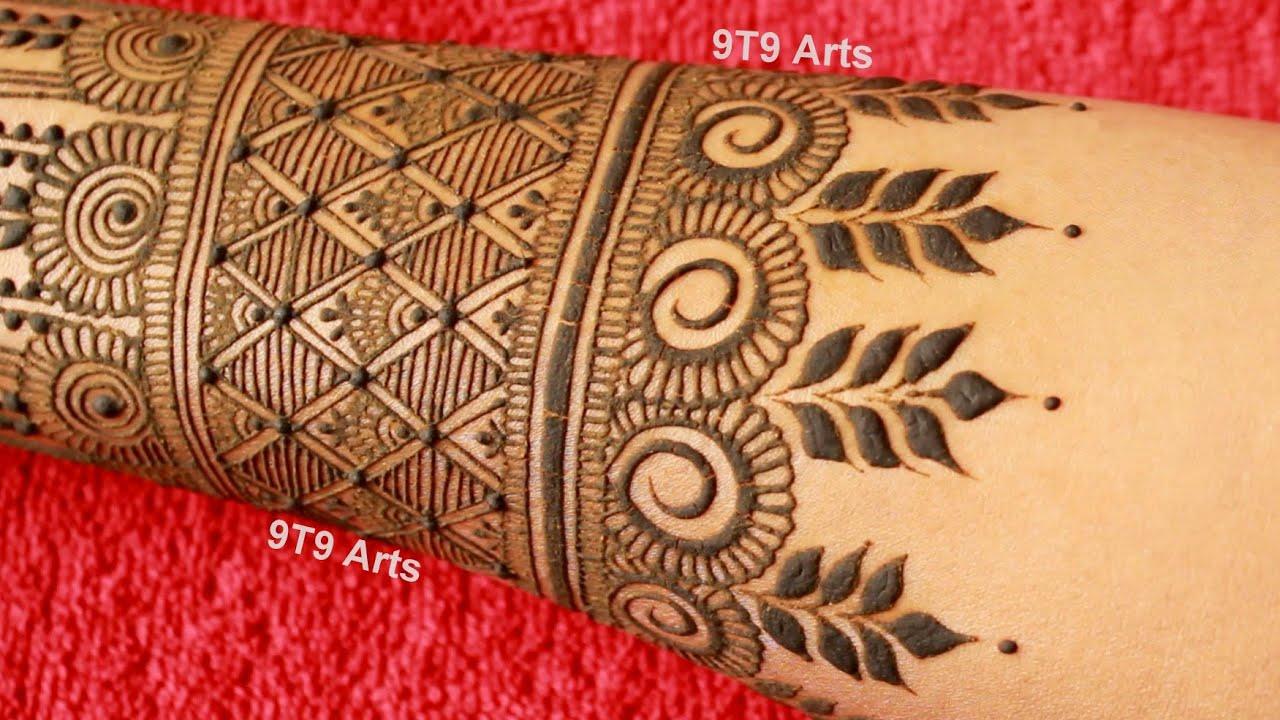 9t9 art mehndi design back side