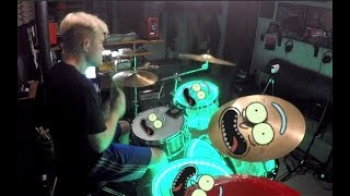 Gambar cover Rick and Morty Theme - Drum Cover By Rex Larkman