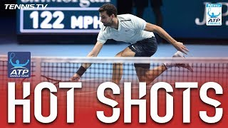 Dimitrov Wins Tremendous Rally With Drop Volley Hot Shot Nitto ATP Finals 2017 SF