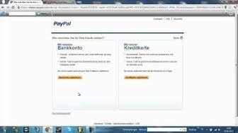 PayPal account ertellen ohne Bankdaten angeben zu müssen!
