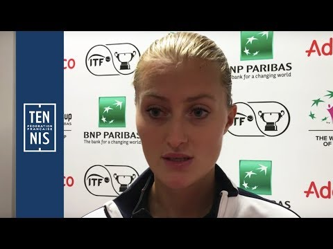 Fed Cup #FRABEL : Interview après-match Kristina Mladenovic
