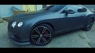 Matte Dark Grey Bentley Continental GT