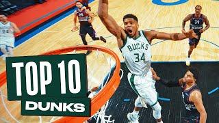 Giannis Antetokounmpo's Top 10 Dunks of the 2020-21 NBA Season