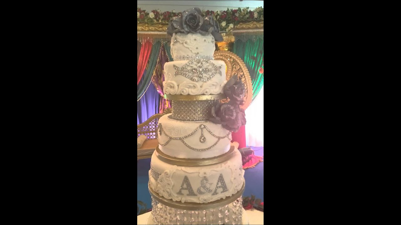 Indian Bling Wedding Cake by KEEKjes nl   YouTube Indian Bling Wedding Cake by KEEKjes nl