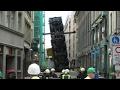 Baukran umgestürzt / Kranführer stirbt / Bergung mit 400 Tonnen-Kran / Leipzig-Zentrum [26.04.2015]