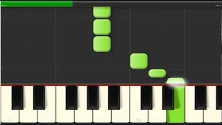 Piano - Synthesia - Beginner - Silver Bells - Easy Piano - Slow