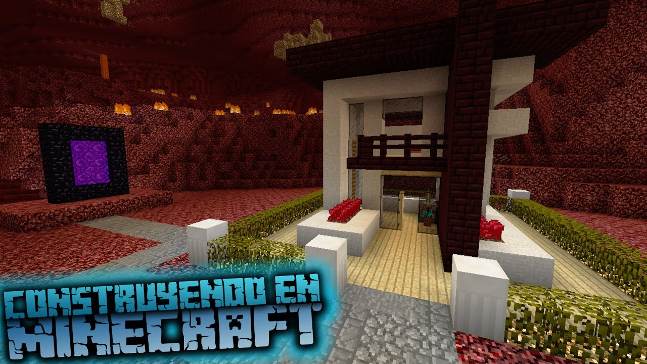 Minecraft como hacer una casa moderna en el nether youtube for Casa moderna omarzcraft